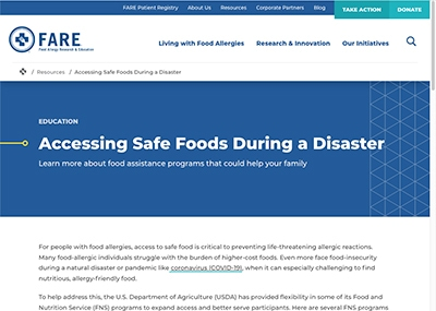 Accessing Safe Foods During a Disaster