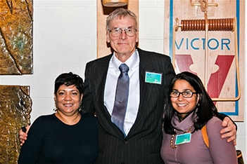 left to right: Sujatha Victor, Jon Terry, Anitha Shrikhande, MD