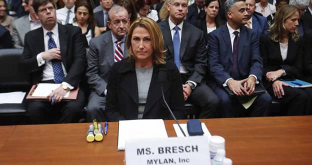 Mylan CEO Heather Bresch testifies before a U.S. House of Representatives Committee